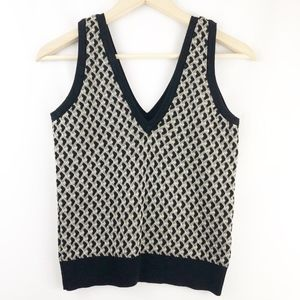 Zara Knit Heart Printed Tank Top